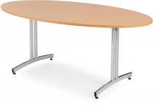 Jedálenský stôl Sanna, oválny, 1800x1000 mm, buk / chróm
