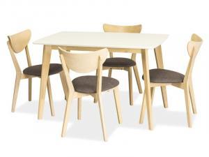Jedálenský stôl Combo (biela) (pre 4 osoby)