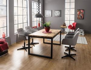 Jedálenský stôl - Signal - Loras II (dub + čierna) (pre 4 osoby). Doprava ZDARMA. Sme autorizovaný predajca Signal.