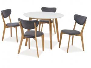 Jedálenský stôl Mosso II (dub biely) (pre 4 osoby)