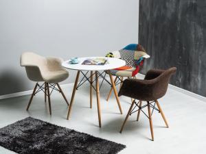 Jedálenský stôl - Signal - Soho 80x80 (biela + buk) (pre 4 osoby) Sme autorizovaný predajca Signal.