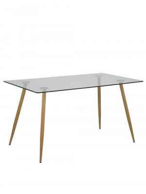Jedálenský stôl sklenený Wanda, 140 cm