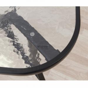 Jedálenský stôl, tvrdené sklo/oceľ, PASTER