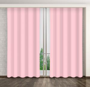 Jednofarebné závesy ružovej farby