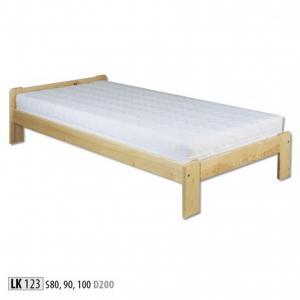 Jednolôžková masívna posteľ LK 123 S80