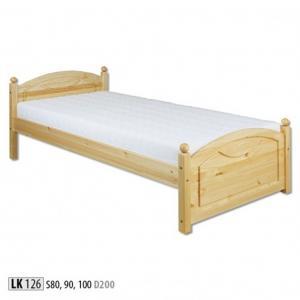 Jednolôžková masívna posteľ LK 126 S100