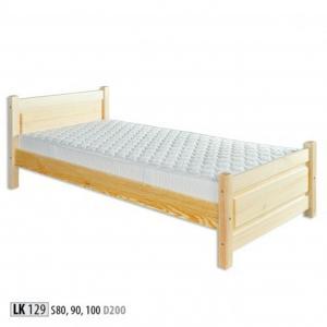 Jednolôžková masívna posteľ LK 129 S100