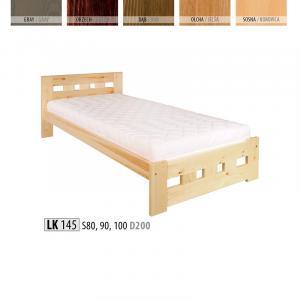 Jednolôžková masívna posteľ LK 145 S100