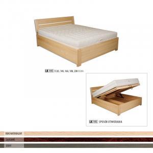 Jednolôžková masívna posteľ  LK 195 S140
