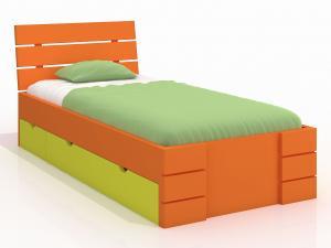 Jednolôžková posteľ 120 cm Naturlig Kids Lorenskog High Drawers (borovica) (s roštom)