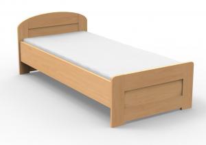 Jednolôžková posteľ 210x120 cm Petra rovné čelo pri nohách (masív)