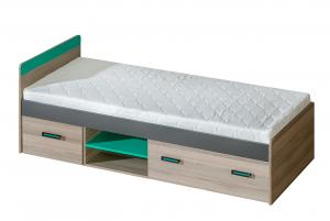 Jednolôžková posteľ 80 cm - Ulmo - U7 (s roštom a úl. priestorom). Akcia -32%.