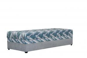 Jednolôžková posteľ 90 cm Blanár Evelína (sivá) (s roštom a matracom Alena)