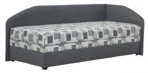 Jednolôžková posteľ 90 cm Blanár Turi (sivá + Kirsten 8057-11) (s roštom a matracom Alena) (P)