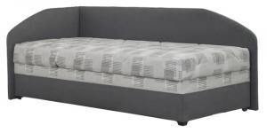 Jednolôžková posteľ 90 cm Blanár Turi (sivá + Kirsten 8057-2) (s roštom a matracom Alena) (L)
