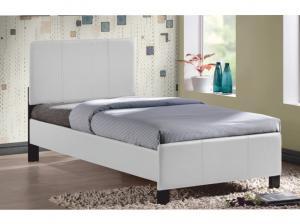 Jednolôžková posteľ 90 cm Coson (biela) (s roštom)
