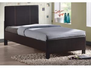 Jednolôžková posteľ 90 cm Coson (hnedá) (s roštom)