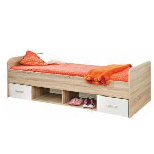 Jednolôžková posteľ 90 cm Ericus Typ 04 Biela