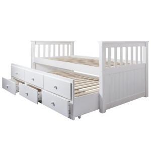 Jednolôžková posteľ 90 cm - Tempo Kondela - Austin (biela) (s roštom). Sme autorizovaný predajca Tempo-Kondela.
