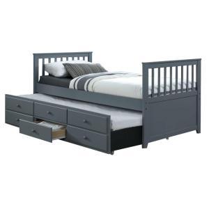 Jednolôžková posteľ 90 cm Austin (sivá) (s roštom)