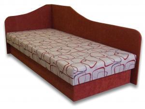Jednolôžková posteľ (váľanda) 80 cm Lux 87 (Tehlová 41 + Dodo 1008) (L)