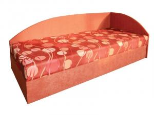 Jednolôžková posteľ (váľanda) 80 cm Marta (s molitanovým matracom) (P)