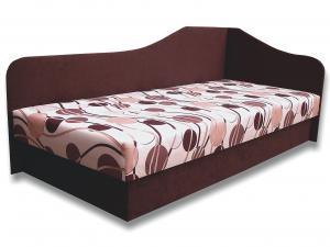 Jednolôžková posteľ (váľanda) 80 cm - Važo - Lux 87 (Tmavohnedá 40 + Ikarus 20) (P). Sme autorizovaný predajca Važo.