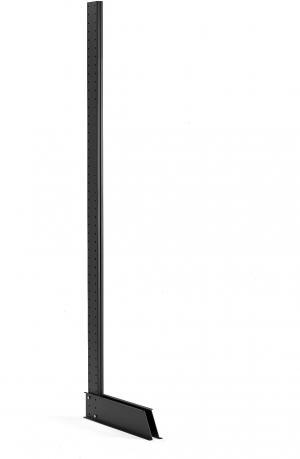 Jednostranná stojka pre konzolové a vertikálne regály Plus, vr. nožičky, 2500mm