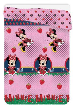Jerry Fabrics Letná prešívaná deka,prehoz Minnie jahody 180/260 cm