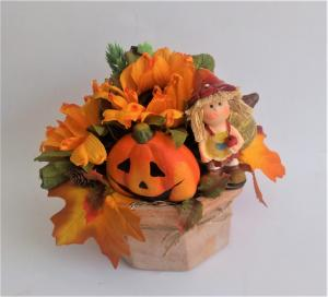 jesenný aranžmán 15 x 17 cm