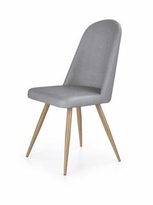 Jídelní židle Leny šedá/dub medový