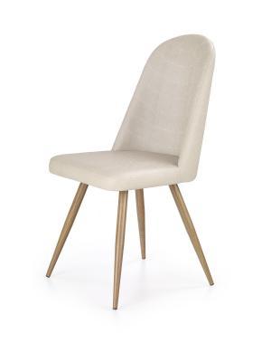 Jídelní židle Leny tmavě krémová/dub medový