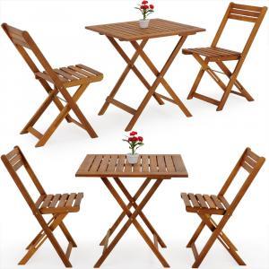 Jurhan & Co.KG Germany Balkónový nábytok, sedenie VITEK 2+1 z akáciového dreva