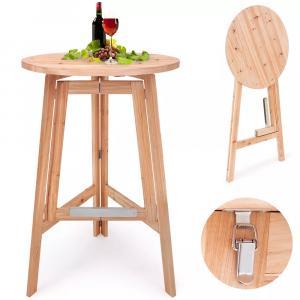 Jurhan & Co.KG Germany Kokteilový stolík, masívne drevo Ø 78cm, sklápateľný
