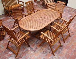 Jurhan & Co.KG Germany Záhradný nábytok z dreva VANAMO 6+1