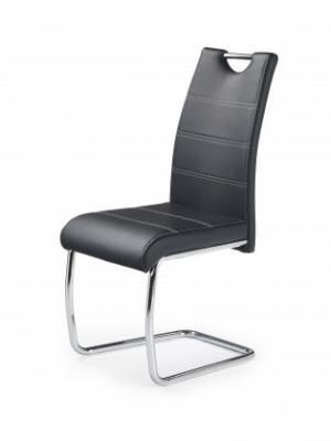 K211 - Jedálenská stolička (čierna, strieborná)