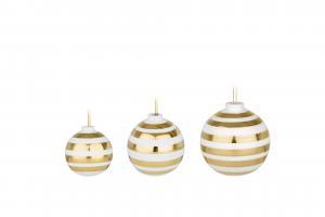 KÄHLER Keramické vianočné ozdoby Omaggio Gold - set 3 ks