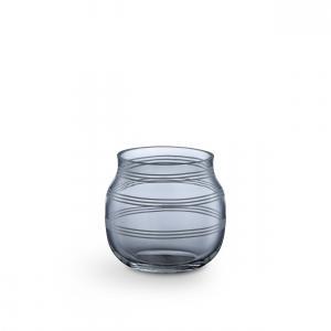 KÄHLER Sklenený svietnik / váza Omaggio Steel Blue 7,5 cm
