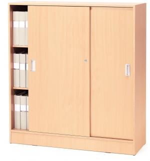 Kancelárska skriňa Flexus s posuvnými dverami, 1325x1200x415 mm, buk