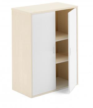 Kancelárska skriňa Modulus, 1200x800x400 mm, breza / biela