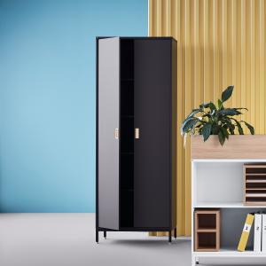 Kancelárska skriňa Modulus, 2000x800x400 mm, čierna