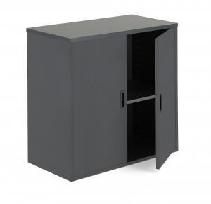 Kancelárska skriňa Modulus, 800x800x400 mm, čierna