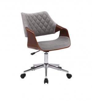Kancelárska stolička COLT orech / sivá / chróm Halmar
