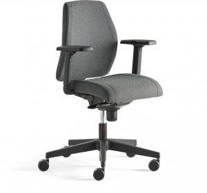 Kancelárska stolička Lancaster, nízke operadlo, antracit