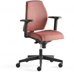Kancelárska stolička Lancaster, nízke operadlo, slivková