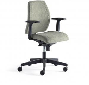 Kancelárska stolička Lancaster, nízke operadlo, zelenomodrá