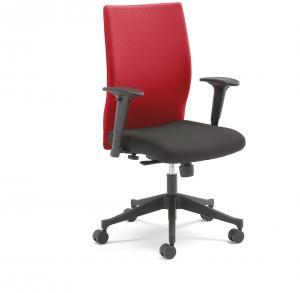 Kancelárska stolička MILTON s odnímateľným poťahom, červená / čierna
