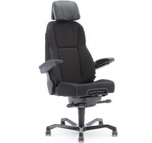 Kancelárska stolička RAMSEY, 24 hodinová, čierne čalúnenie