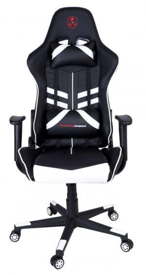 Kancelárska stolička SHADOW GAMER čierno-biela