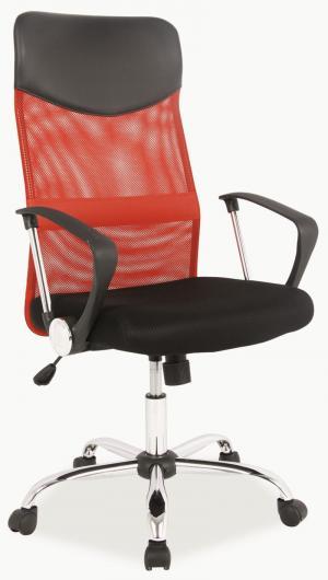 Kancelárska stolička - Signal - Q-025 červené + čierna. Doprava ZDARMA. Sme autorizovaný predajca Signal.